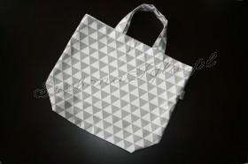 Torba na zakupy - szare trójkąty