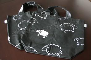 Torba na zakupy - owce nocą
