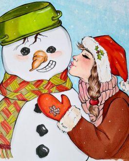 Zimowy pocałunek