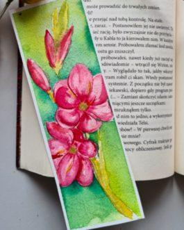 """Zakładka do książki malowana akwarelą """"Amarylis"""" (Kopia)"""
